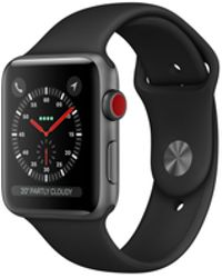 Apple - Watch Series 3 Gps + Cellular 42mm Aluminium Case Space Grey With Black Sport Band - Lyst
