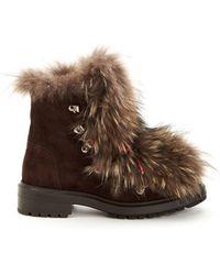 Aquatalia | Lilana Suede & Fur Short Boots | Lyst
