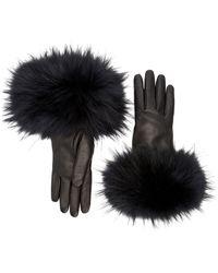 Aquatalia Fur Cuff Glove - Black