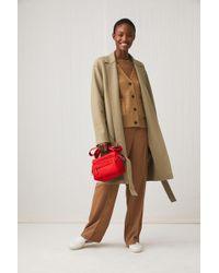 ARKET - Belted Wool Jersey Coat - Lyst