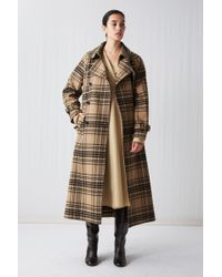 ARKET - Checked Wool Trench Coat - Lyst