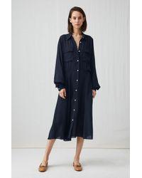ARKET - Viscose Crêpe Shirt Dress - Lyst