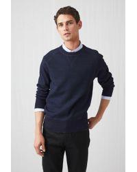 ARKET - Double-knit Indigo Jumper - Lyst