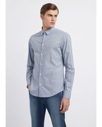 6ed916bb00 Lyst - Armani Jeans Long Sleeve Shirt in Black for Men