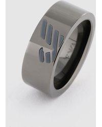 a871dd6ec463 Lyst - Emporio Armani Ring in Metallic for Men