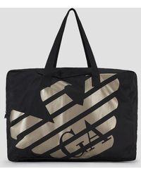 59ee021a07e969 Emporio Armani Two Tone Ripstop Sport Duffle Bag in Black for Men - Lyst