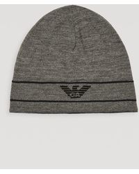 617697afb69 Emporio Armani Runway Aviator Hat With Faux Fur Lining in Gray for ...