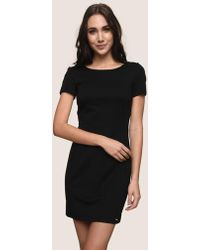 Armani Exchange - Zip-back Sheath Dress - Lyst