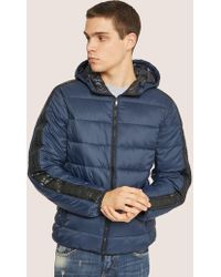 Armani Exchange - Logo Tape Hooded Puffer Jacket - Lyst