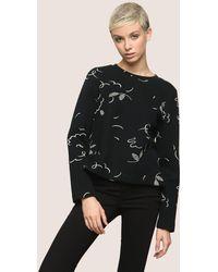Armani Exchange - Floral Confetti Sweatshirt Top - Lyst