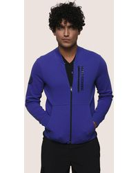 Armani Exchange - Vertical Logo Zip-up Jacket - Lyst