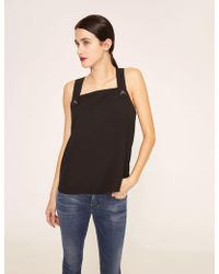 Armani Exchange - Pyramid Stud Pinafore Top - Lyst