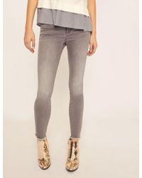 Armani Exchange - Super-skinny Cropped Grey Zipper Jean - Lyst