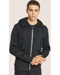 Armani Exchange - Hooded Mesh Warm-up Jacket - Lyst