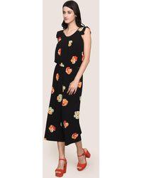 Armani Exchange - Floral Print Jumpsuit - Lyst