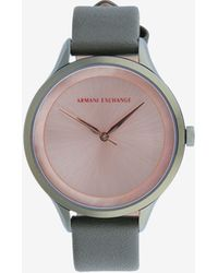 Armani Exchange - Women Quartz/3 Hands Leather Watch - Lyst