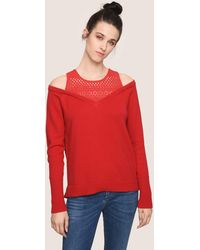 Armani Exchange - Off-the-shoulder Layered Sweater - Lyst
