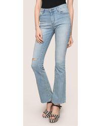 Armani Exchange - Razored Power Stretch Flare Jeans - Lyst