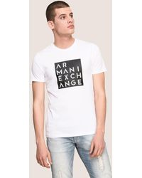 Armani Exchange - Linear Type Logo Tee - Lyst
