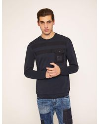 Armani Exchange - Utility-style Pieced Logo Sweatshirt - Lyst