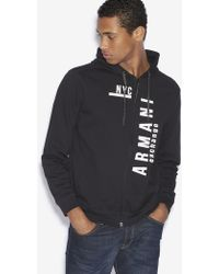 Armani Exchange - Nyc Logo Zip-up Hoodie - Lyst