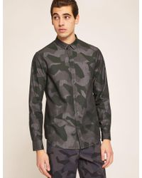 Armani Exchange - Regular-fit Geo Camo Shirt - Lyst