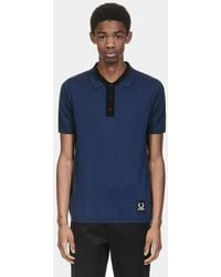 Fred Perry - X Raf Simons Knitted Sport Polo Shirt - Lyst