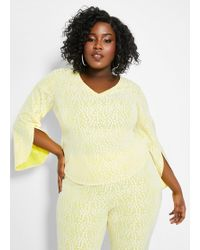 1500d9f21617a8 Lyst - ASOS Peplum Top With Bardot Off Shoulder In Bonded Lace in Black