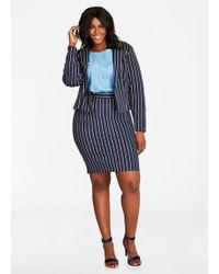 Ashley Stewart - Knee-length Pinstripe Pencil Skirt - Lyst