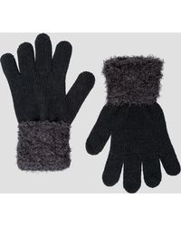 Ashley Stewart - Soft Touch Contrast Cuff Gloves - Lyst