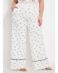 9d9205ea6b18b Lyst - Ashley Stewart Plus Size Striped Crepe Wide Leg Pants in Blue