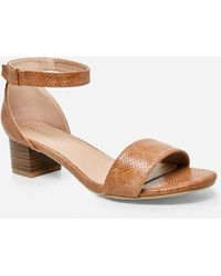 1c40008eab8 Ashley Stewart Criss Cross Heeled Sandal - Lyst