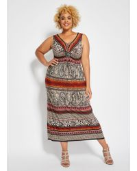7d626edc12b8 Eliza J Plus Size Maxi Dress With Knot Front in Blue - Lyst