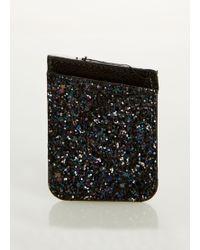 Ashley Stewart - Plus Size Glitter Stick On Phone Wallet - Lyst