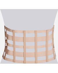 Ashley Stewart - Blush Pink Caged Corset Belt - Lyst