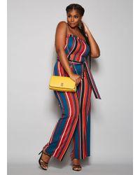 0cc1fc27895c Ashley Stewart - Plus Size The Marley Jumpsuit - Lyst