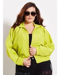50598454234 Ashley Stewart - Plus Size Solid Cropped Windbreaker - Lyst