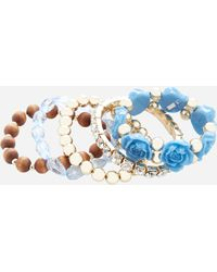 Ashley Stewart - Plus Size Rosette Bauble Gold Bracelet - Lyst