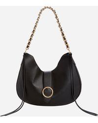 Ashley Stewart - Chain Strap Flapover Handbag - Lyst