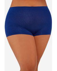 Ashley Stewart - Plus Size Textured Seamless Boyshort Panty - Lyst
