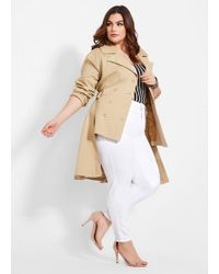 d9198c73911 Ashley Stewart - Plus Size Double Breasted Belted Trench - Lyst