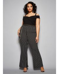 1e897179291c Lyst - Ashley Stewart Plus Size The Willow Jumpsuit in Metallic