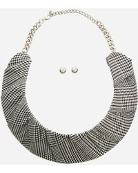 Ashley Stewart - Plus Size Fabric Wrapped Collar Necklace Set - Lyst