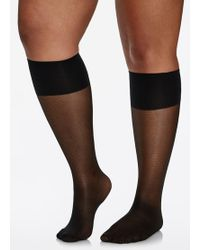 9abb448f8 Ashley Stewart - Sheer Support Knee Length Trouser Sock - Lyst