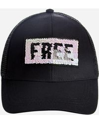 Ashley Stewart - Wild And Free Sequin Ball Cap - Lyst