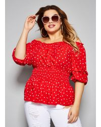 0eac66d701902 Tailored Fit Golf Polo Shirt.  98. Ralph Lauren · Ashley Stewart - Plus  Size The Betty Top - Lyst