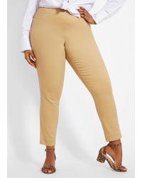 da7f1bb5c112f Ashley Stewart - Plus Size Pull On Twill Skinny Pant - Lyst