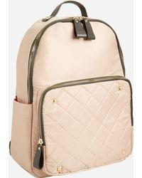 Ashley Stewart - Satin Quilted Backpack - Lyst