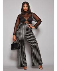 63639b38780d Lyst - Ashley Stewart Plus Size The Mila Jumpsuit in Black