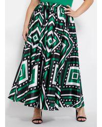 af7e902bfa57 Ashley Stewart - Plus Size Satin Geometric Maxi Skirt - Lyst. Talbots -  Jersey ...